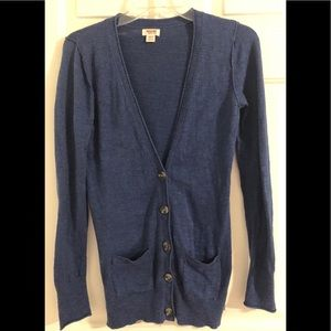 Mossimo For Target Blue Cardigan Sweater Size S/P